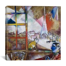 """Paris Through the Window, 1913"" Canvas Wall Art by Marc Chagall"
