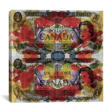 One Canadian Dollar Graphic Art on Canvas