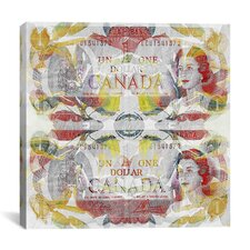 One Canadian Dollar 3 Graphic Art on Canvas