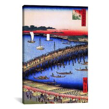 Ando Hiroshige 'One Hundred Famous Views of Edo 53' by Utagawa Hiroshige l Graphic Art on Canvas