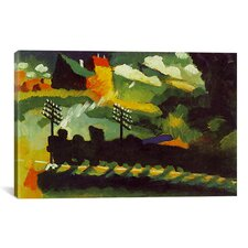 'Murnau View with Railway and Castle' by Wassily Kandinsky Painting Print on Canvas