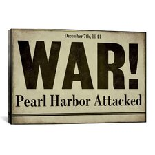 'Pearl Harbor' by Color Bakery Textual Art on Canvas