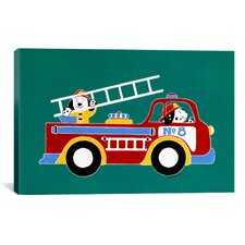 'No 8 Fire Truck' by Shelly Rasche Painting Print on Canvas
