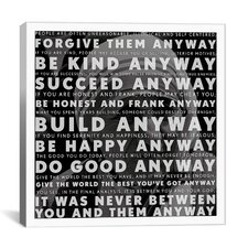 Mother Teresa Quote Canvas Wall Art
