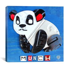 Munch the Panda (License plate art) from Design Turnpike collection Canvas Wall Art