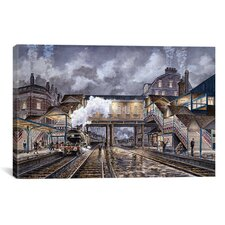 'Night Train To Edinbourough' by Stanton Manolakas Painting Print on Canvas