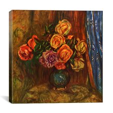"""Pitcher (Vase) of Flowers"" by Pierre-Auguste Renoir Canvas Painting Print"