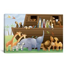 Kids Children Noah's Ark Canvas Wall Art