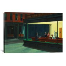 'Nighthawks, 1942' by Edward Hopper Painting Print on Canvas