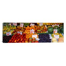 Panoramic 'Pike Place Market Seattle Washington' Photographic Print on Canvas