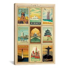 'World Collection' by Anderson Design Group Vintage Advertisement on Canvas