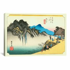 'Sakanoshita' by Utagawa Hiroshige l Painting Print on Canvas