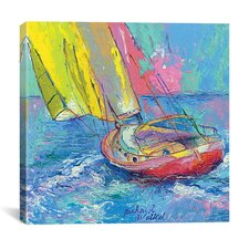 'Sailboat' by Richard Wallich Canvas Wall Art