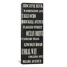 Typography 'Miami Streets from Willow Way Studios, Inc' Textual Art on Canvas
