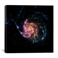 Pinwheel Galaxy M101 (Spitzer Space Observatory) Canvas Wall Art