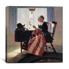 'Mending the Flag' by Norman Rockwell Painting Print on Canvas