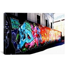 Street Art 'Metal Face Graffiti' by JESSboo Photographic Print on Canvas