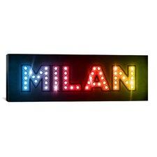'Milan' by Michael Thompsett Textual Art on Canvas