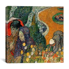 """Memory of the Garden at Etten (Ladies of Arles)"" Canvas Wall Art by Vincent van Gogh"