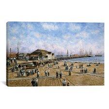 'Mcfadden Wharf, California 1900' by Stanton Manolakas Painting Print on Canvas