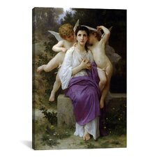 'Leveil Heart' by William-Adolphe Bouguereau Painting Print on Canvas