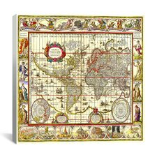 Map of the World Graphic Art on Canvas