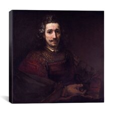"""Man with a Magnifying Glass"" Cancas Wall Art by Rembrandt"