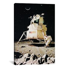 'Man on the Moon' by Norman Rockwell Graphic Art on Canvas