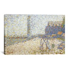 'L'hospice Et Le Phare De Honfleur 1886' by Georges Seurat Painting Print on Canvas