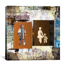 """Man, Woman, Child"" Painting Print on Canvas by Luz Graphics"