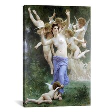 'Le Guepier - the Wasps Nest' by William-Adolphe Bouguereau Painting Print on Canvas