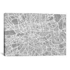 'London Map V' by Michael Thompsett Graphic Art on Canvas