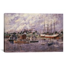 'Launching of Elinor F Bartram' by Stanton Manolakas Painting Print on Canvas