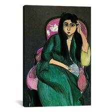 'Laurette in Green in a Pink Chair' by Henri Matisse Painting Print on Canvas