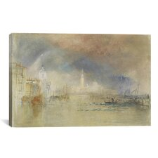 'Looking Towards the Dogana and San Giorgio Maggiore, with a Storm Approaching, Venice 1834' by Joseph William Turner Painting Print on Canvas