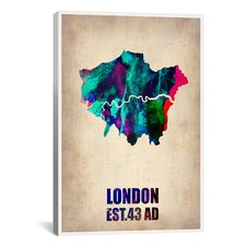 Naxart 'London Watercolor Map II' Graphic Art on Canvas