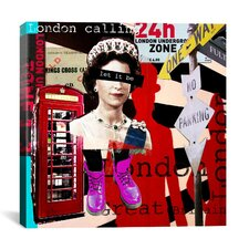 """London #51"" Graphic Art on Canvas by Luz Graphics"