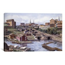 'Lockport New York, Lockport 5's, California 1865' by Stanton Manolakas Painting Print on Canvas