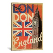 'London, England' by Anderson Design Group Vintage Advertisement on Canvas