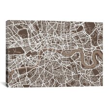 'London Map VII' by Michael Thompsett Graphic Art on Canvas