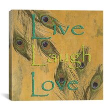 """Live, Lough and Love"" Canvas Wall Art by Marcus Jules"