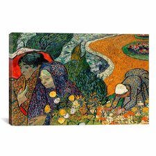 'Ladies of Arle (Memories of the Garden at Etten)' by Vincent Van Gogh Painting Print on Canvas