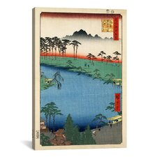'Kumanoj Nisha Shrine, 1856' by Utagawa Hiroshige Painting Print on Canvas