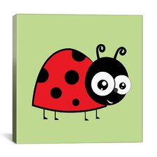 Kids Art Lady Bug Canvas Wall Art