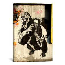 Street Art 'Kongs New Weapon Graffiti' Painting Print on Canvas