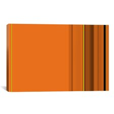 Pumpkin Striped Graphic Art on Canvas in Orange