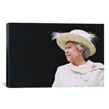 Political Queen Elizabeth Portrait Photographic Print on Canvas