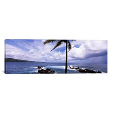 Panoramic Honolulu Nui Bay, Maui, Hawaii Photographic Print on Canvas