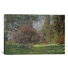 'Landscape, the Parc Monceau 1876' by Claude Monet Painting Print on Canvas