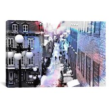 'Quebec City, Lower Town Canada' Painting Print on Canvas